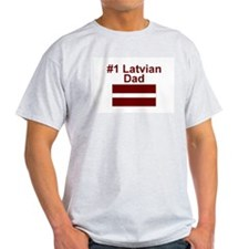 #1 Latvian Dad T-Shirt