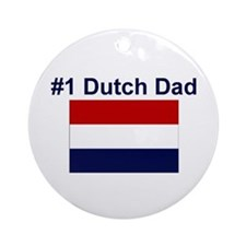 #1 Dutch Dad Ornament (Round)