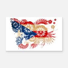 Puerto Rico textured flower Rectangle Car Magnet
