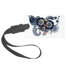 north dakota textured flower Luggage Tag