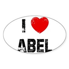 I * Abel Oval Decal