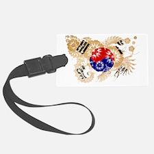 Korea (South) textured flower Luggage Tag