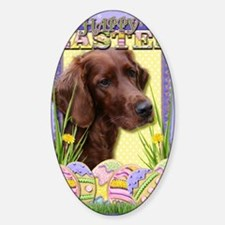EasterEggCookiesIrishSetter Sticker (Oval)