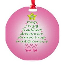 Custom Pink Dancer's Christmas Tree Ornament