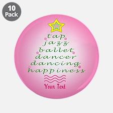 Custom Pink Dancer's Christmas Tree 3.5&Quot; Butt