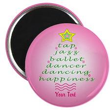 Custom Pink Dancer's Christmas Tree Magnet
