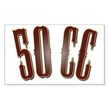 50CC-RedShiny Decal