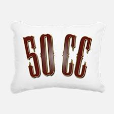 50CC-RedShiny Rectangular Canvas Pillow