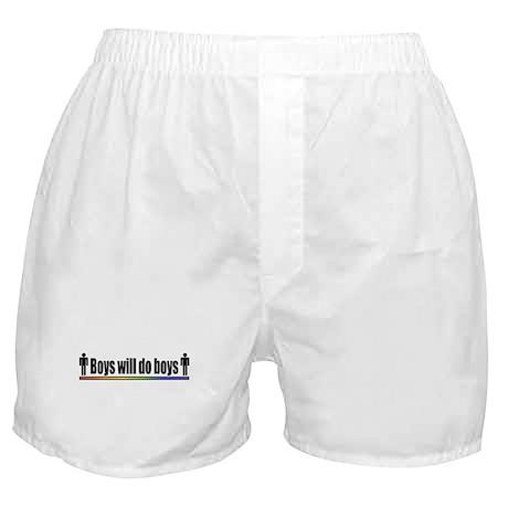 Boys will do boys Boxer Shorts