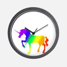 MY UNICORN SEATS TWO WHITE Wall Clock