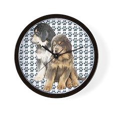 tibetan mastiff twin bedspread Wall Clock