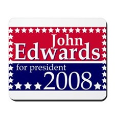 John Edwards rectangle Mousepad