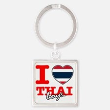 thai Square Keychain