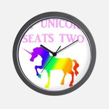MY UNICORN SEATS TWO PINK Wall Clock