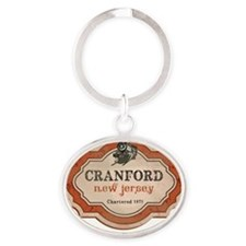 Cranford_Train1 Oval Keychain