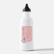 pink-damask-skates-cur Water Bottle