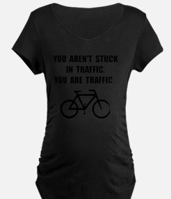Bike Traffic Black T-Shirt