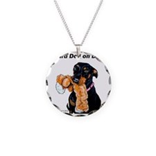 Doberman Pinscher Guard Dog Necklace