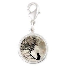 catmoon7100 Silver Round Charm