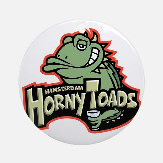 horny-toads-T Round Ornament