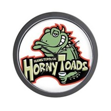 horny-toads-T Wall Clock
