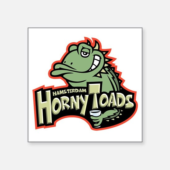 "horny-toads-T Square Sticker 3"" x 3"""