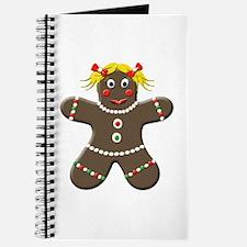 Gingerbread Girl Christmas Journal