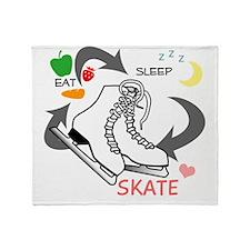 eat-sleep-skate Throw Blanket