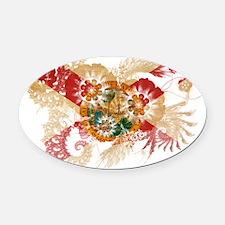 Florida textured flower Oval Car Magnet