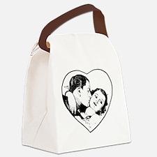 love_b+w Canvas Lunch Bag