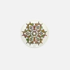 moose snowflake Mini Button