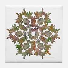 moose snowflake Tile Coaster