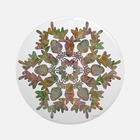 moose snowflake Round Ornament