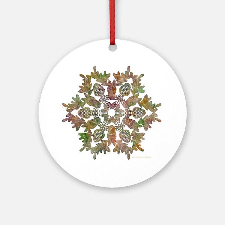 moose snowflake Round Ornament