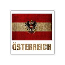 """austria6Bk Square Sticker 3"""" x 3"""""""