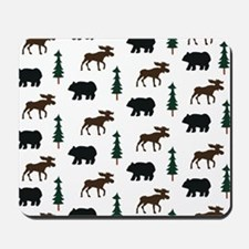 Bear and Moose Pattern Mousepad