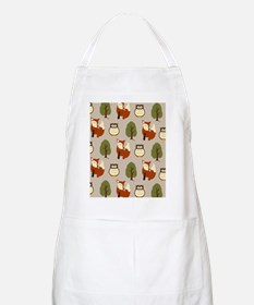 Fox and Owl Shower Curtain Apron
