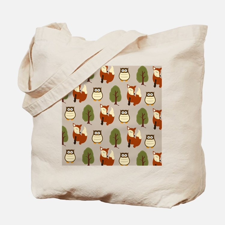 Fox and Owl Shower Curtain Tote Bag