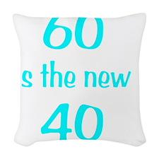 60New40wht Woven Throw Pillow
