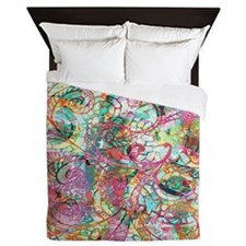 Artrageous Feathers Queen Duvet