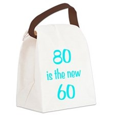 80new60Wht Canvas Lunch Bag