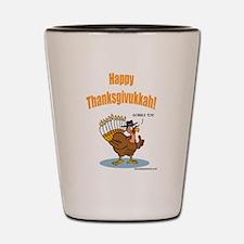 Happy Thanksgivukkah Turkey Shot Glass