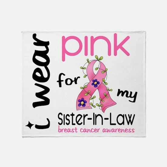 - I Wear Pink 43 Sister-In-Law Breas Throw Blanket