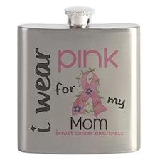 - I Wear Pink 43 Mom Breast Cancer Flask