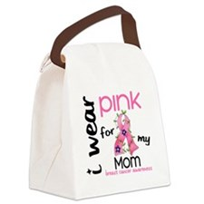 - I Wear Pink 43 Mom Breast Cance Canvas Lunch Bag