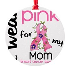 - I Wear Pink 43 Mom Breast Cancer Ornament