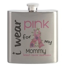- I Wear Pink 43 Mommy Breast Cancer Flask