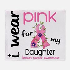 - I Wear Pink 43 Daughter Breast Can Throw Blanket
