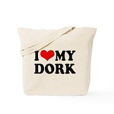 I Love My Dork Tote Bag