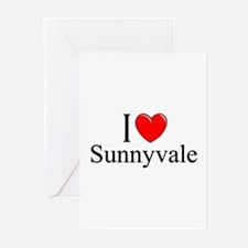 """I Love Sunnyvale"" Greeting Cards (Pk of 10)"